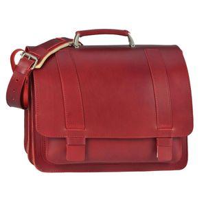Ruitertassen Lehrertasche Leder rot Damen Herren Schultasche Aktentasche 40cm 2 Fächer 152437N