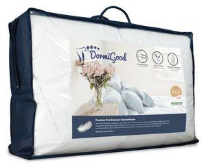 DormiGood |  Premium Daunenkissen | 80x80 cm | Daunen | Kissen | 80x80 | Kopfkissen | Allergiker geeignet | Nomite | Downpass