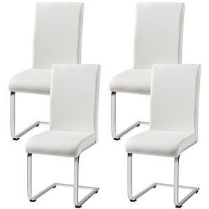 Yaheetech Esszimmerstühle  4er Set  Freischwinger stühle schwingstuhl, 120 kg belastbar