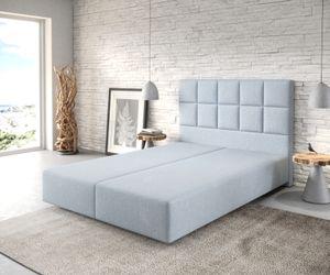 Boxspringgestell Dream-Fine Flachgewebe Pastellblau 140x200