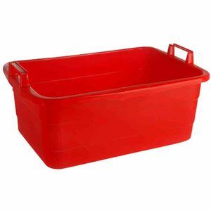 Lockweiler 103-976242 Wäschewanne, eckig, Kunststoff, 62 x 43 x 25 cm, 45 Liter, rot