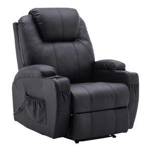 MCombo Elektrisch Massagesessel Relaxsessel Fernsehsessel Liegefunktion Heizung 7061BK