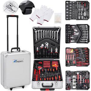 TRESKO 949 tlg Werkzeugkoffer Silber Werkzeugkasten Werkzeugbox Werkzeugkiste Trolley Set