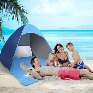Strandmuschel, Tragbar Extra Light Strandzelt,Einschließlich UV-Schutz,Beach Zelt für Familie,Strand,Garten,Camping