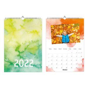 Fotokalender Bastelkalender Watercolor mit Feiertagen 2022