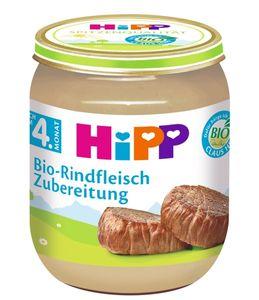 HiPP Fleischzubereitungen ab 4.MonatRindfleisch-Zubereitung,DE-ÖKO-037 - 125g