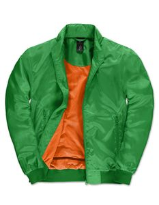 B&C Herren Trooper Jacke - JM963, Größe:M, Farbe:Real Green/Neon Orange