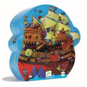 DJECO Puzzle Piratenschiff Puzzle 54 Teile