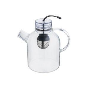 Teekanne Glas mit Sieb Teebereiter Teekessel Glaskanne Groß Neu FLORINA 1,5 l