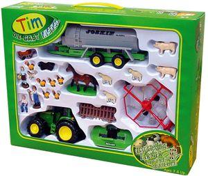 TIM 31006 Bauernhofset John Deere Traktor mit Geräten 1:32 Metall