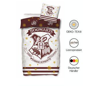 Harry Potter Bettwäsche 135x200cm 80x80 Kissenbezug Bettwäsche Harry Potter Bettbezug Hogwarts Wendebettwäsche Set Baumwolle Deutsche Größe