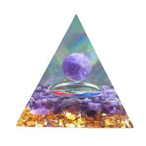 Orgon-Pyramide-Energie-Generator, der positive Energie natürlicher Edelsteinstein ausgleicht