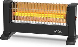 ICQN Infrarot Standheizstrahler | Für Räume bis 16m² | 900 W | IP20 | Elektroheizung | 1,5 Meter Kabelzuleitung | Heater für Büro oder Haus | Infrarotheizer| IQ.0900.APW