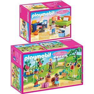 PLAYMOBIL 70209 70212 Dollhouse 2er Set Jugendzimm