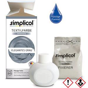 Simplicol Textilfarbe intensiv all in 1 Flüssig in Elegantes Grau