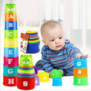 9PCS Kinder pädagogische intelligente interaktive Stapelbecher Spiel Party Spielzeug