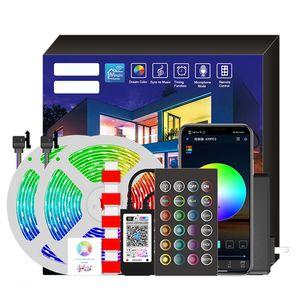 20M LED Streifen 5050 RGB-Lichtleiste Intelligente Lichtleiste Beleuchtung & Musikeinstellung Sprachsteuerung EU-Stecker