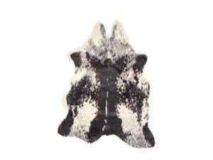 Ökologisches Kuhfell Schwarz Weiß Acryl / Polyester Unregelmäßige Form Maschinengewebt Elegantes Design