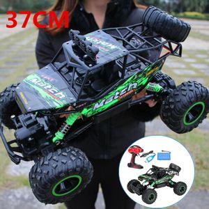 Sunnyme Ferngesteuertes Auto 1:12 4WD RC Auto Hochgeschwindigkeits Monstertruck 2.4GHz All Terrain Wasserdicht Rennauto Geländewagen Hobby Spielzeugauto für Erwachsene und Kinder Grün