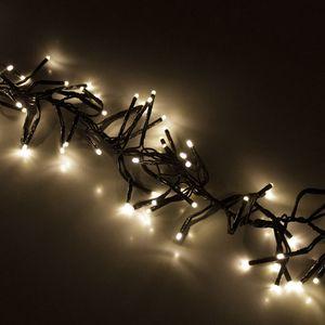 Cluster-Lichterkette 768 LEDs Warmweiß 8 Lichteffekte 5,6m Dimmer, Timer & Fernbedienung / Innen & Außen