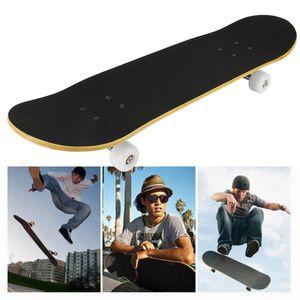 Skateboard Skate Board Komplettboard Longboard Funboard Ahornholz Holzboard mit Buchstabenmuster 79cm