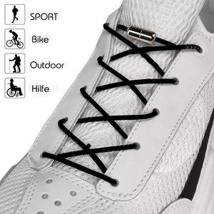 Elastische Schnürsenkel schwarz Rund Sneakers Gummi Schuhbänder Kinderschuhe ohne binden