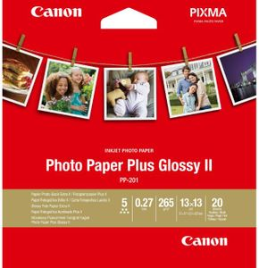 Canon PP-201 13x13 cm 20 Blatt Photo Paper Plus Glossy II 265 g