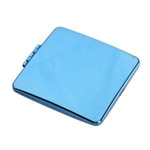 Wunderschöne Kleiner Taschen-Spiegel Handspiegel, Mini-Doppelseitige 方形 Quadrat Blau