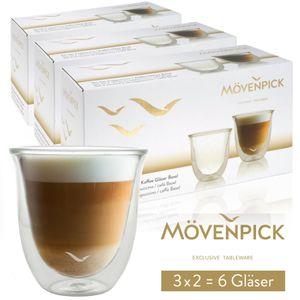 """Mövenpick 6 x """"Basel"""" Cappuccino Gläser"""
