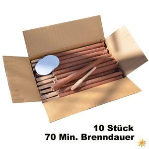 10 Hochwertige Fackeln 70 Min. Brennzeit 40cm lang