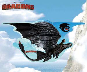 Motiv Laterne   Drachen   46,0 x 23,0 cm   DreamWorks Dragons   Kinder Lampion
