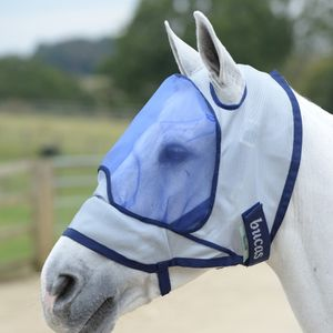Bucas Buzz-Off Delux Mask - Blue, Größe:S