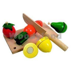 Schneide Gemüse Obst Früchte Brett Klettverschluß Holz