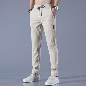 Morydal Schnelltrocknende Herrenhose mit geradem Bein und mehreren Taschen lockere atmungsaktive Kordelzughose,Farbe: Khaki,Größe:29
