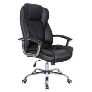 SONGMICS Bürostühle Chefsessel bis 150kg belastbar Drehstuhl ergonomisch höhenverstellbar mit verdicktem Kopfkissen und Sitzpolster schwarz OBG57B