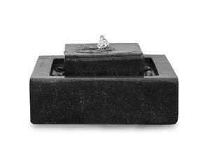 Brunnen Gartenbrunnen Stufenbrunnen FoScala darkgrey 48x48x23 cm 10874
