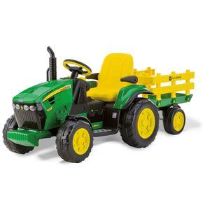 12V Traktor John Deere mit Anhänger