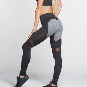 Yoga-Hosen Push-Up-Leggings Sport Damen Fitness Sommer-Hosen Gym Leggings femme -(25-2010-01,S)