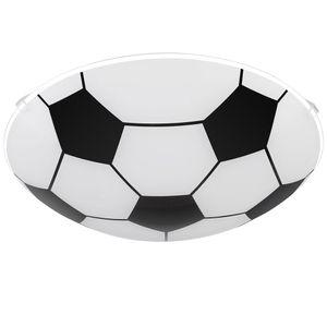 Deckenleuchte im Fußball-Design, Glas, schwarz weiß, LEMMI