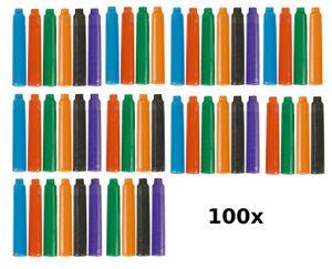 100 farbige Füllerpatronen / Tintenpatronen