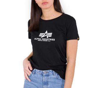 Alpha Industries Damen New Basic T-Shirt schwarz S