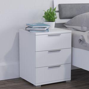 Nachtschrank Kommode Nachttisch Schublade Ablage Schlafzimmer Weiß