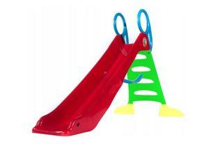 MEGA große Rutsche Kinderrutsche Gartenrutsche 200cm Rutschbahn mit Wasser Schlauchanschluss!