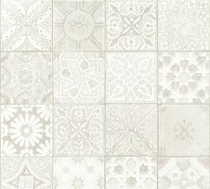 Livingwalls Vliestapete Neue Bude 2.0 Tapete beige grau weiß 10,05 m x 0,53 m 362052 36205-2