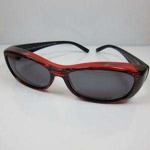 REVEX Sonnenbrille für Brillenträger 100% UV CAT 3 polarisierte Überbrille M1