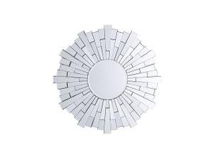 Wandspiegel Silber Glas MDF Rund 70 cm Glamour