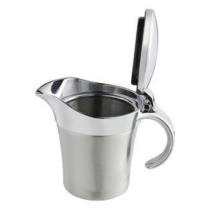 Thermo Sauciere / Warmhalte Soßen Schüssel mit Handgriff, Doppelwandig Edelstahl  0,45 Liter