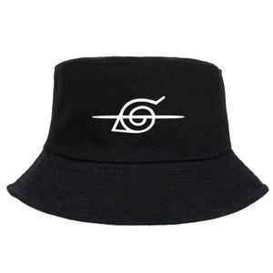 Naruto cotton fisherman hat, sunshade, windproof  Schwarz