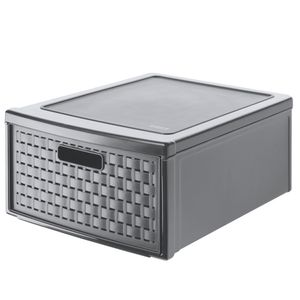 Schubladenbox gross COUNTRY 19,2 Liter, Farbe:Anthrazit