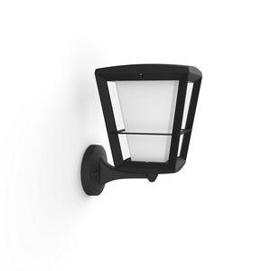 Philips Hue White & Color Ambiance Econic - Wandleuchte, schwarz - Laternenform stehend
